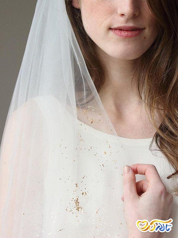 تور عروس حریر ساده