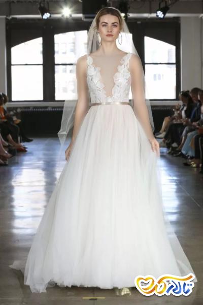 لباس عروس دانتل گلدار