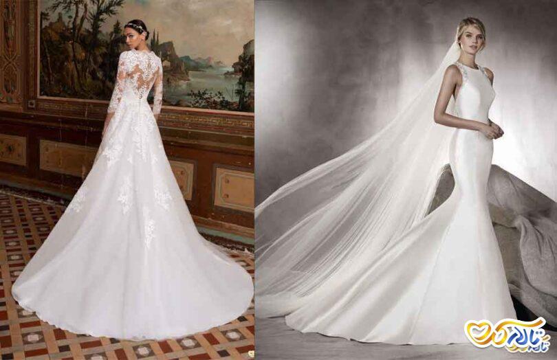 لباس عروس دنباله دار شیک
