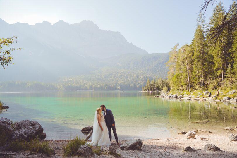 منظره دریاچه در عکاسی فرمالیته عروسی