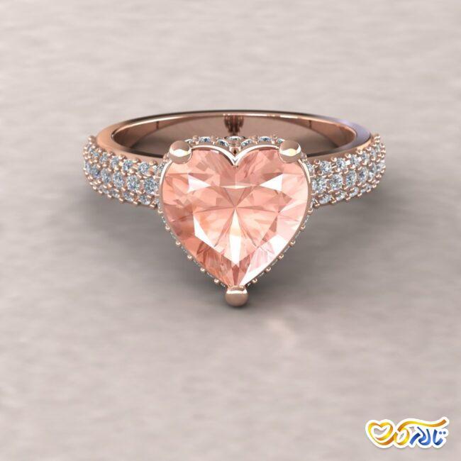 حلقه عروسی قلب برای ولنتاین