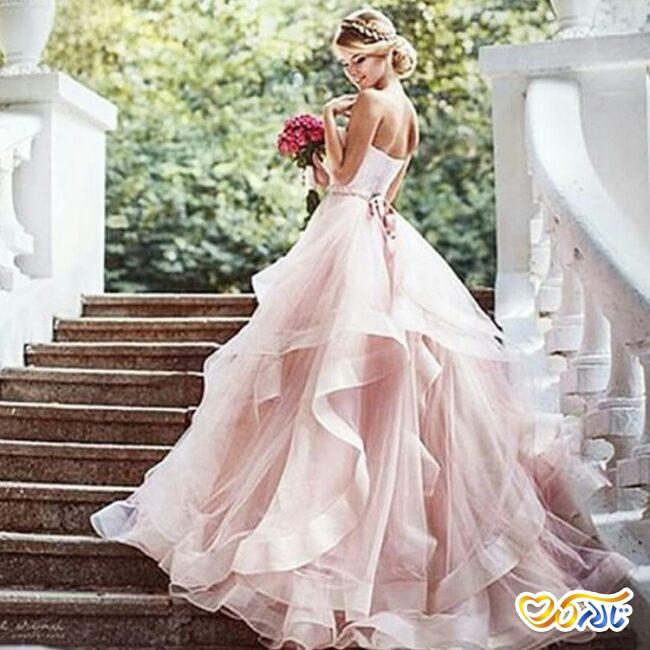 لباس عروس صورتی برای ولنتاین