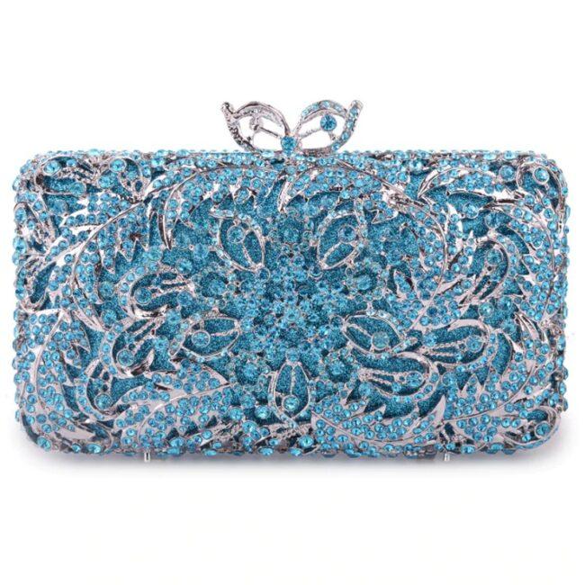 کیف عروس آبی رنگ