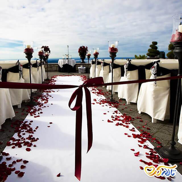 تزئین سالن پذیرایی عروسی
