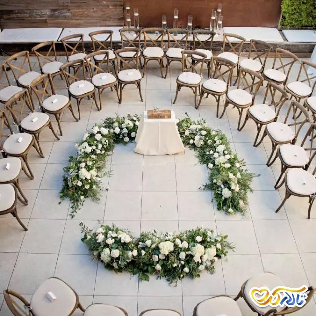 چیدمان صندلی تالار عروسی