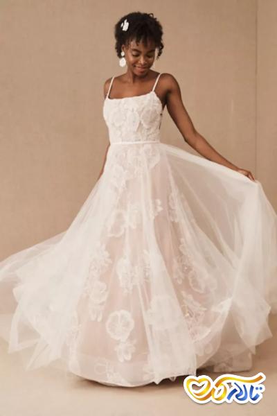 لباس عروس گلدار شیک